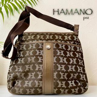 ハマノヒカクコウゲイ(濱野皮革工藝/HAMANO)の新品同様 濱野工芸皮革 HAMANO 約3.2万 レザーショルダーバッグ 鞄(ショルダーバッグ)