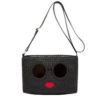 アジョリー(a-jolie)のa-jolie BASKET SHOULDER BAG BOOK BLACK (かごバッグ/ストローバッグ)