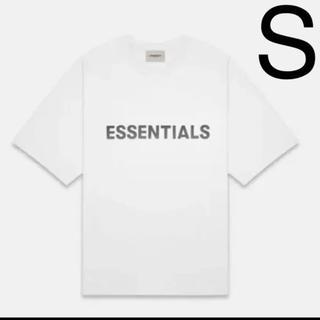フィアオブゴッド(FEAR OF GOD)のFOG Essentials 20ss white logo Tee Sサイズ(Tシャツ/カットソー(半袖/袖なし))