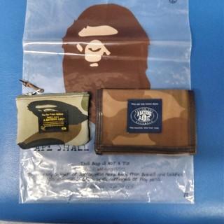 アベイシングエイプ(A BATHING APE)のA BATHING APE 折り畳み財布とコインケースセット(折り財布)
