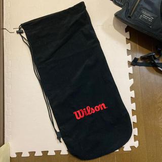 ウィルソン(wilson)のWilson ラケットカバー 布 黒 赤(その他)