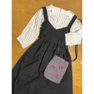フィグロンドン(fig London)の定価¥10,780  綿100% 7分袖 ストライプシャツ(シャツ/ブラウス(長袖/七分))