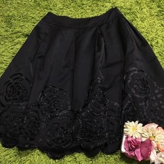 René - Reneルネ レディフレアスカート黒 刺繍