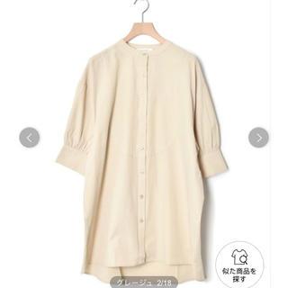 w closet - バンドカラー5分袖シャツ