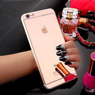 iPhone7Plus/8Plus ローズゴールド 背面 強化ガラス Qu