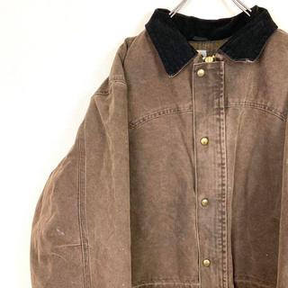 カーハート(carhartt)の90sアメリカ古着 カーハート ダックワークジャケット 革パッチ オーバーサイズ(カバーオール)