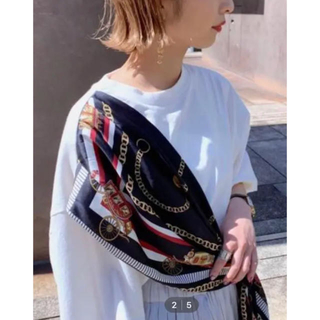 ジーナシス(JEANASIS)のスカーフムスビTEE(Tシャツ/カットソー(半袖/袖なし))