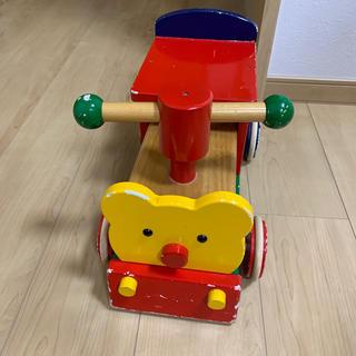 mikihouse - ミキハウス  押しぐるま 車 木のおもちゃ