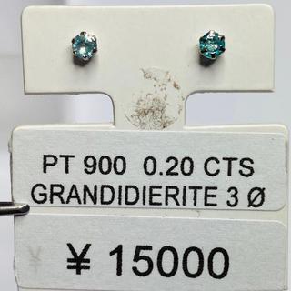 CE-41233 PT900 ピアス グランディディエライト AANI アニ