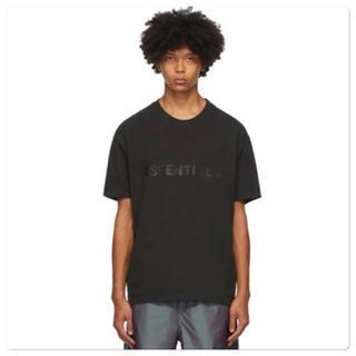 フィアオブゴッド(FEAR OF GOD)のfog essentials 20ss ブラック ロゴTシャツ エッセンシャルズ(Tシャツ/カットソー(半袖/袖なし))
