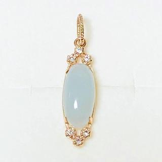 agete - agete アガット K10 ミルキーアクアマリン ダイヤモンド チャーム