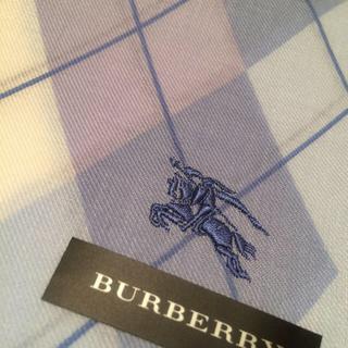 バーバリー(BURBERRY)のアーガイル バーバリー ハンカチ ブルー(ハンカチ)
