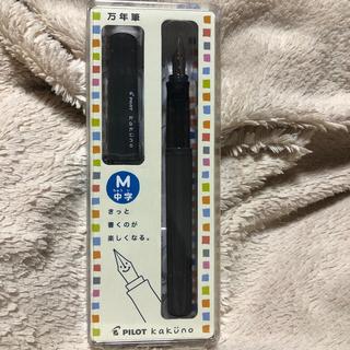 パイロット(PILOT)のパイロット万年筆 kakuno  カクノ 中字(M)グレー(ペン/マーカー)