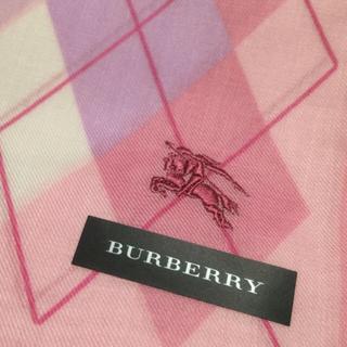 バーバリー(BURBERRY)のアーガイル 刺繍 バーバリー ハンカチ 新品(ハンカチ)
