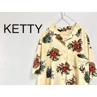 """ケティ(ketty)の古着 """"KETTY"""" セットアップ花柄シャツ(上)(シャツ/ブラウス(半袖/袖なし))"""