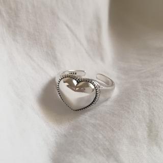 Ameri VINTAGE - 【 再入荷 】925 heart chunky ring *