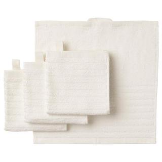 IKEA  タオルハンカチ 4枚 セット ホワイト イケア