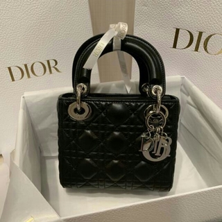 Dior - 美品 Dior レディディオールミニ カナージュ ミニバッグ