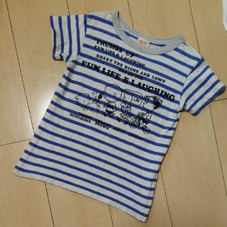 DENIM DUNGAREE - デニムダンガリー☆スヌーピー   ボーダー Tシャツ
