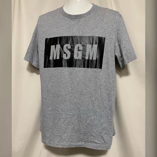 MSGM - 定価17600円 MSGM MILANO 2018SS ロゴTシャツ S グレー