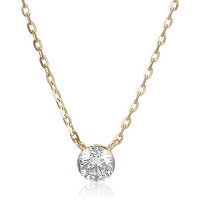 agete(アガット)のagete K18 ダイヤモンド ネックレス 0.1ct ¥52,800 レディースのアクセサリー(ネックレス)の商品写真