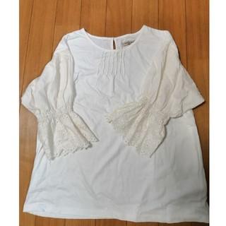 SM2 - 未使用サマンサモスモスボリューム袖Tシャツお色はキナリ