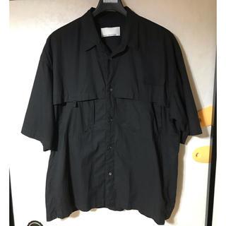アバハウス(ABAHOUSE)のABAHOUSE  アバハウス マイセルフ 6部丈シャツ Lサイズ ブラック(シャツ)