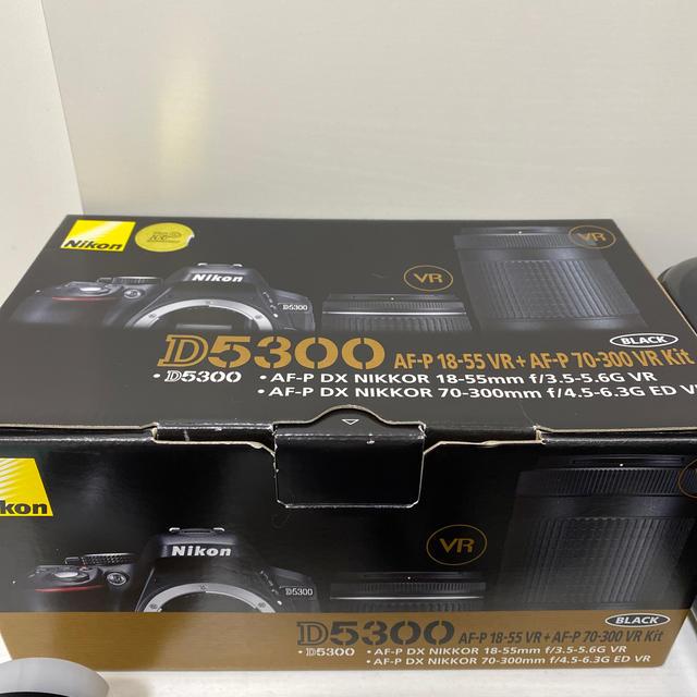 Nikon(ニコン)の【再値下げ】NikonD5300  ダブルズームキット スマホ/家電/カメラのカメラ(デジタル一眼)の商品写真