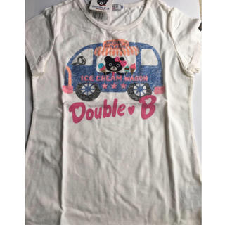 ダブルビー(DOUBLE.B)の新品未使用!ミキハウス ダブルビー   アイスクリーム ワゴン Tシャツ★(Tシャツ/カットソー)