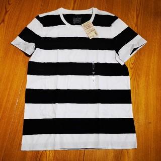 MUJI (無印良品) - 【未使用】無印良品 クルーネック半袖Tシャツ 白黒ボーダー L