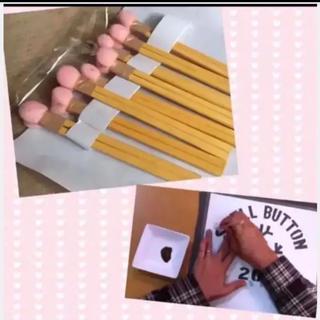 ステンシル 用 スポンジハケx8、手作り(型紙/パターン)