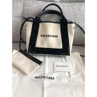 Balenciaga - バレンシアガ ネイビーカバ トートバッグ キャンバス バッグ ベージュ