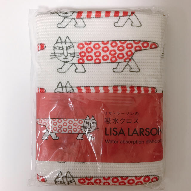 Lisa Larson(リサラーソン)の日本製 未開封 リサラーソン 吸水クロス マイキー 赤 インテリア/住まい/日用品のキッチン/食器(収納/キッチン雑貨)の商品写真
