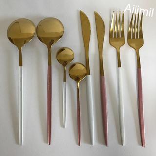 【新品】クチポール風カトラリー 8本セット ゴールド スプーン フォーク ナイフ(カトラリー/箸)