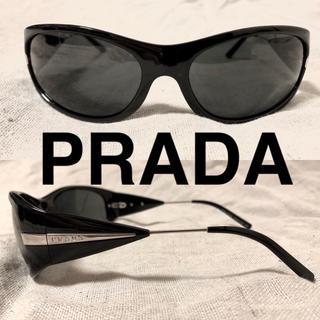 プラダ(PRADA)のPRADA サングラス ブラック ケース 箱付属 イタリア製 (サングラス/メガネ)