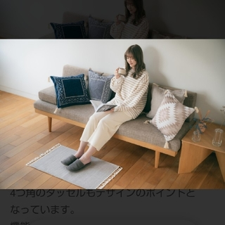 シマムラ(しまむら)の美品 プチプラのあや×しまむら クッションカバー グレー(クッションカバー)