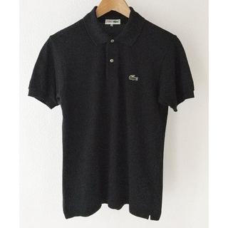 LACOSTE - ラコステ【LACOSTE】ポロシャツ 半袖 ロゴ  M 黒 D-TK9029