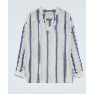 ザラ(ZARA)のZara チュニック ストライプシャツ(シャツ)