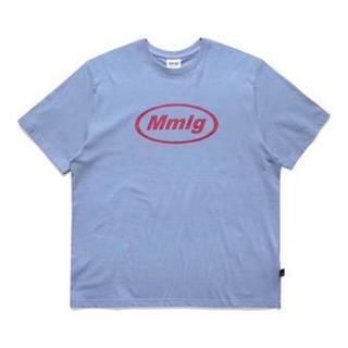 STUSSY - 青 mmlg パルチエムエム 韓国 オーバーサイズ 男女兼用 Tシャツ