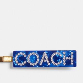 コーチ(COACH)の新品未使用 コーチ ヘアピン ブルー COACH(ヘアゴム/シュシュ)