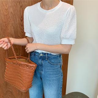 オオトロ(OHOTORO)のPure wrinkle span blouse(Tシャツ(半袖/袖なし))