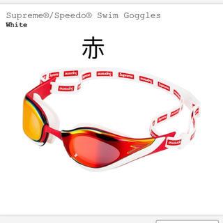 シュプリーム(Supreme)の赤 speedo swim Goggles  ④(その他)