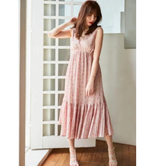 snidel(スナイデル)のHer lip to Pleated Floral Midi Dress レディースのワンピース(ロングワンピース/マキシワンピース)の商品写真