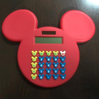 Disney - ミッキー型 電卓(赤)