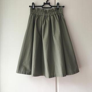 イング(INGNI)の膝丈スカート フレアスカート プリーツスカート 緑(ひざ丈スカート)