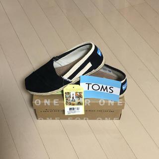 トムズ(TOMS)の新品★未使用 エスパドリーユ ブラック ストライプ(スニーカー)
