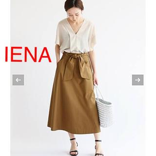 IENA - IENA ツイルリボンスカート