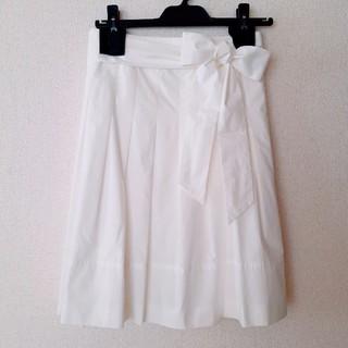 ビッキー(VICKY)の【美品】PREMIUM BY VICKY フレアスカート ビッキー 日本製(ひざ丈スカート)