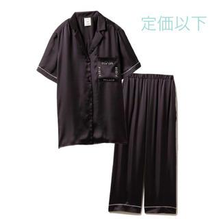 ジェラートピケ(gelato pique)のロゴサテンシャツ ロングパンツ ◆ジェラートピケ 新品未使用 上下セット(ルームウェア)