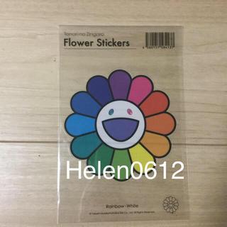 本物 国内正規品 kaikaikiki  村上隆Sticker お花レインボー白